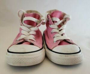 Converse All Star Toddler Size 6 Pink High Top Lace Sneakers Shoes Baby Girl