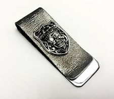 Men's Skull Money Clip Withe Natural White Diamonds By Sacred Angels