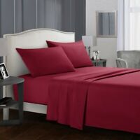 3/4 Piece Bedroom Bed Sheet Set 1500 Thread Count Luxury Comfort Deep Pocket