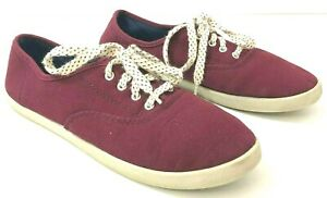 Canvas Shoes Burgundy Womens Size 9
