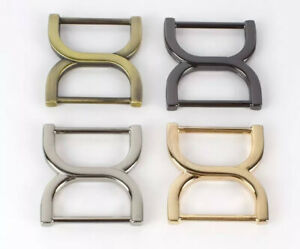Double D Tri Glide Buckle 25mm Bag Hardware Strap Adjuster Slider Belt