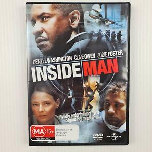 Inside Man DVD - Denzel Washington - Clive Owen - Region 2,4,5 - TRACKED POST