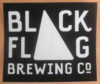 """BLACK FLAG BREWING CO, MARYLAND 2 3/4"""" X 3 1/4"""" Beer STICKER, Columbia, MARYLAND"""
