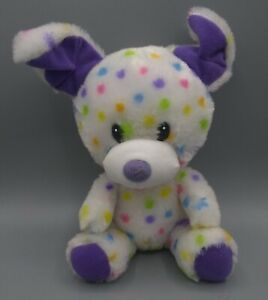 "Build A Bear Buddies DOG RAINBOW POLKA DOT DALMATIAN PUPPY DOG 7"" Plush"