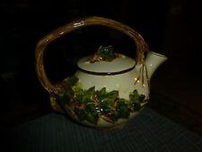 Vintage MC COY Ceramic IVY VINES Tea Pot U.S.A. Cute !