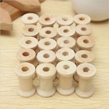 20Pcs Wooden Bobbins Spools Reels for Sewing Ribbon Textile Yarn DIY Craft 27mm