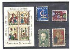 Liechtenstein 1970, Kleines Los **, postfrisch **, Michelwert € 25,00  /S625