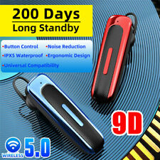 New listing Wireless Bluetooth 5.0 Earpiece Headset Noise Cancelling Earbuds Driving Trucker