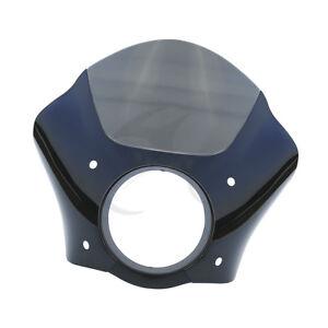 Gauntlet Headlight Fairing Mask Black Smoke For Harley Sportster XL FXDL XG 500
