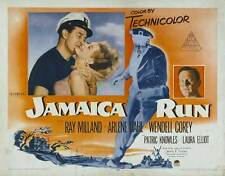 JAMAICA RUN Movie POSTER 30x40 Ray Milland Arlene Dahl Wendell Corey Patric