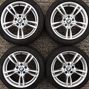 Set Genuine BMW 18 3 4 Series Alloy Wheels F30 F31 F32 E90 Tyres 225 255 E91 400
