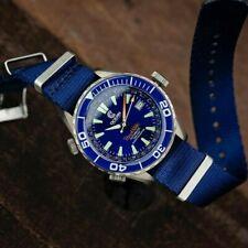 Dark Sapphire Seatbelt NATO Watch Strap (20mm) Dark Blue, UK Supplier