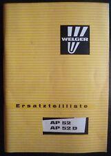 Welger Ballenpresse AP52 + AP52D Ersatzteilliste