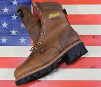 "Thorogood 9"" Logger Waterproof 400G Insulated Steel Toe Work Boot [804-3554]10 D"
