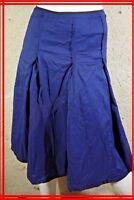 COTELAC Taille 1 - 36 Superbe jupe bleue et noire en coton mélangé skirt