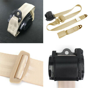 3 Point Retractable Universal Car Seat Belt Bolt Extension Safety Strap Buckle
