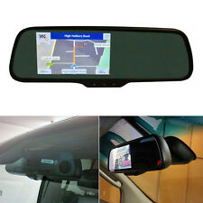 5 inch TouchScreen Mirror Mount BT GPS SatNav Car Monitor With Built In Dash Cam