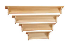 AMISH Unfinished SOLID PINE -  5' Plain WALL Mantle Shelf - Handmade Rustic