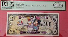 2009D $5 Daisy and Minnie Disney Dollar,  Graded Gem New 66PPQ, D00079596