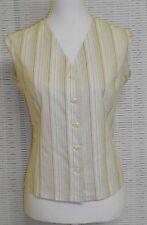 Gestreifte Hüftlang Damenblusen,-Tops & -Shirts mit V-Ausschnitt und Baumwolle
