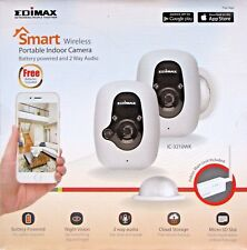 EDIMAX IC-3210WK SMART WIRELESS PORTABLE INDOOR BATTERY POWERED 2 X CAMERA KIT