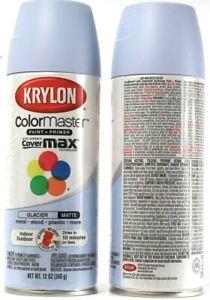 2 Count Krylon Colormaster Paint & Primer In & Outdoor 53575 Matte Glacier 12oz