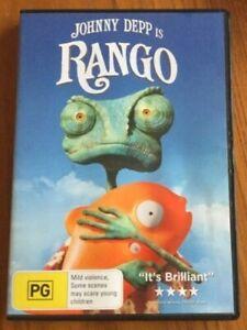 RANGO dvd REGION 4 johnny depp NEW SEALED isla fisher 2011 animated western