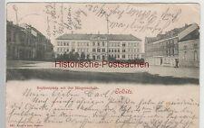(82899) AK Colditz, Sophienplatz mit Bürgerschule, 1899