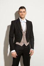 Kurzer Frack Schwalbenschwanz  Hochzeitsanzug Herrenanzug SCHWARZ  NEUES MODELL