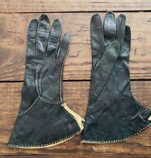 Vintage Aris gloves France 6 1/2 Leather