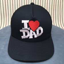 Honor Thy Father Snapback BLACK Trucker Hat I Heart LOVE DAD Unisex Baseball Cap