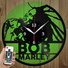 LED Vinyl Clock Bob Marley LED Wall Art Decor Clock Original Gift 2917