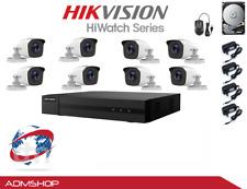 KIT TELECAMERE VIDEOSORVEGLIANZA DVR 8 CH+8 TELECAMERE HIKVISION DVR 2MPX