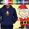 Peanuts Charlie Brown Santa Claus Christmas Pullover Sweatshirt Hoodie Sweater
