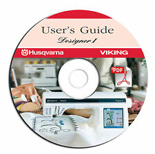 NEW Husqvarna Viking Designer I Sewing Machine User Guide Manual-on CD-PDF eBook