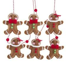 Kurt Adler Felt Sewn Gingerbread Man 6' Christmas Garland String