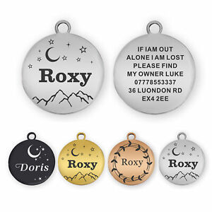 Dog Tag Personalised ID Tags for Dogs/Cats Custom Pet Tag Engraved Dog Name Tag