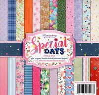 SPECIAL DAYS PAPER PAD 48 DOUBLE SIDED 8 x 8 INS, 2 OF EACH, HUNKYDORY BRAND NEW
