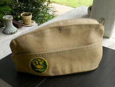 Original Civilian Conservation Corps Envelope Hat with CCC Badge 1940