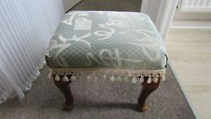 Vintage Handmade Footstool by Nestra Works in Reigate, Surrey - upholstered top