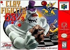 Clay Fighter 63 1/3 Nintendo 64 N64 Game Only Ships Free+Tracking