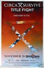 Circa Survive / Title Fight 2014 San Diego Concert Tour Poster - Alt Rock Music
