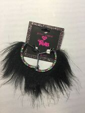 Disney Trolls Earrings Betsey Johnson Black fuzzy dangle Jewelry XOX