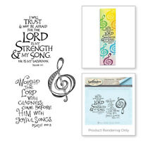 SPELLBINDERS 3D Cling Foam Stamp LORD IS MY STRENGTH SBS-144 App 4.75 x 3.00 in.