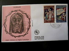 TCHAD 168/69   PREMIER JOUR  FDC  EGLISE SAINT THOMAS, JEAN      2+5F    1969