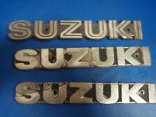 SUZUKI MOTORCYCLE EMBLEMS EMBLEM SET OF THREE USED SEE PICS