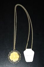Vintage Retro Bronze Classic Flower Pendant And Chain (New)