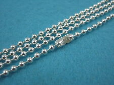 40 x 24 Inch Sterling Silver Plated Ball chain necklace (60 cm)