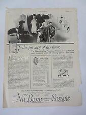 Vintage Print Ads Nu Bone Corsets & School of Modern Dress February 1922  #9374