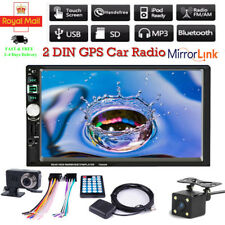 "7"" 2 DIN Car Radio Stereo GPS Navi Bluetooth MP5 Player USB SD AUX Camera"